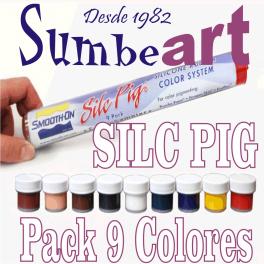 PACK 9 COLORES SILC  PIG