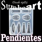 MOLDE SILICONA  PENDIENTES