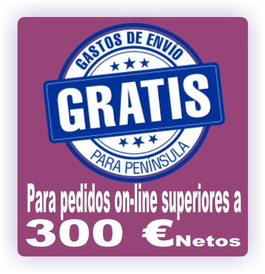 ENVIOS GRATUITOS A PARTIR DE 300 € NETOS