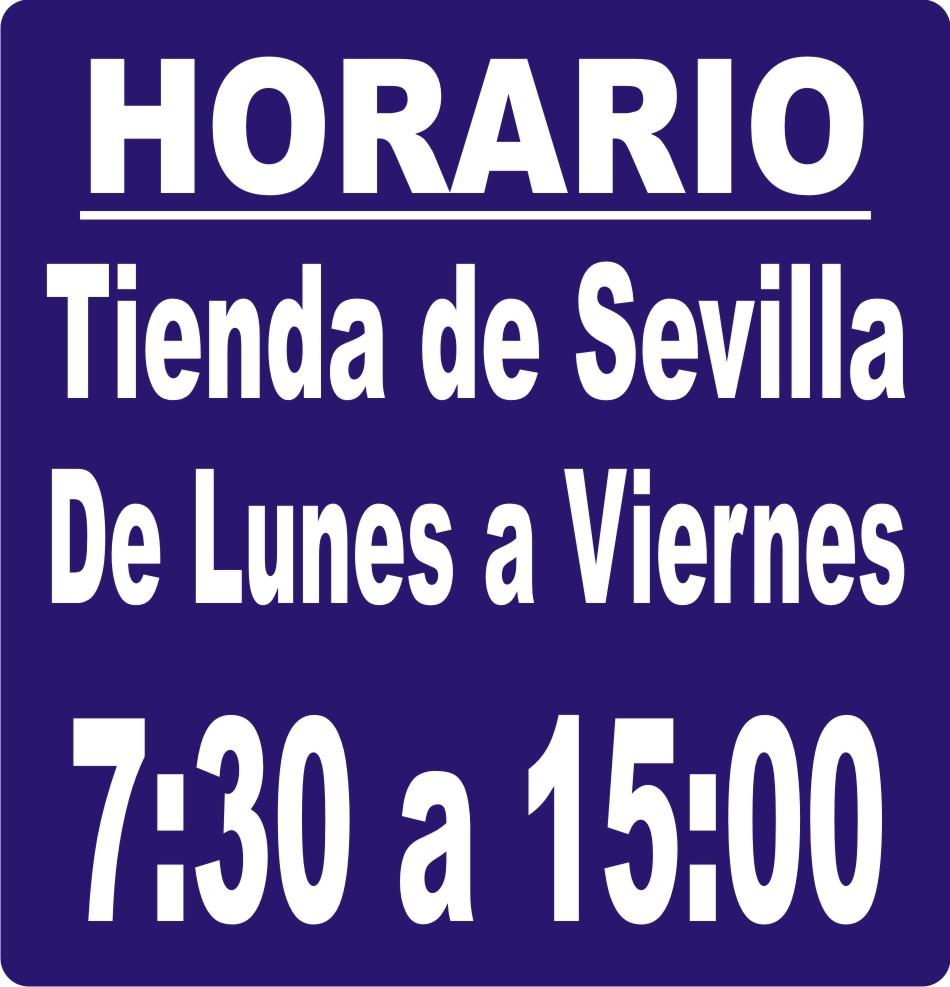 HORARIO TIENDA DE SEVILLA