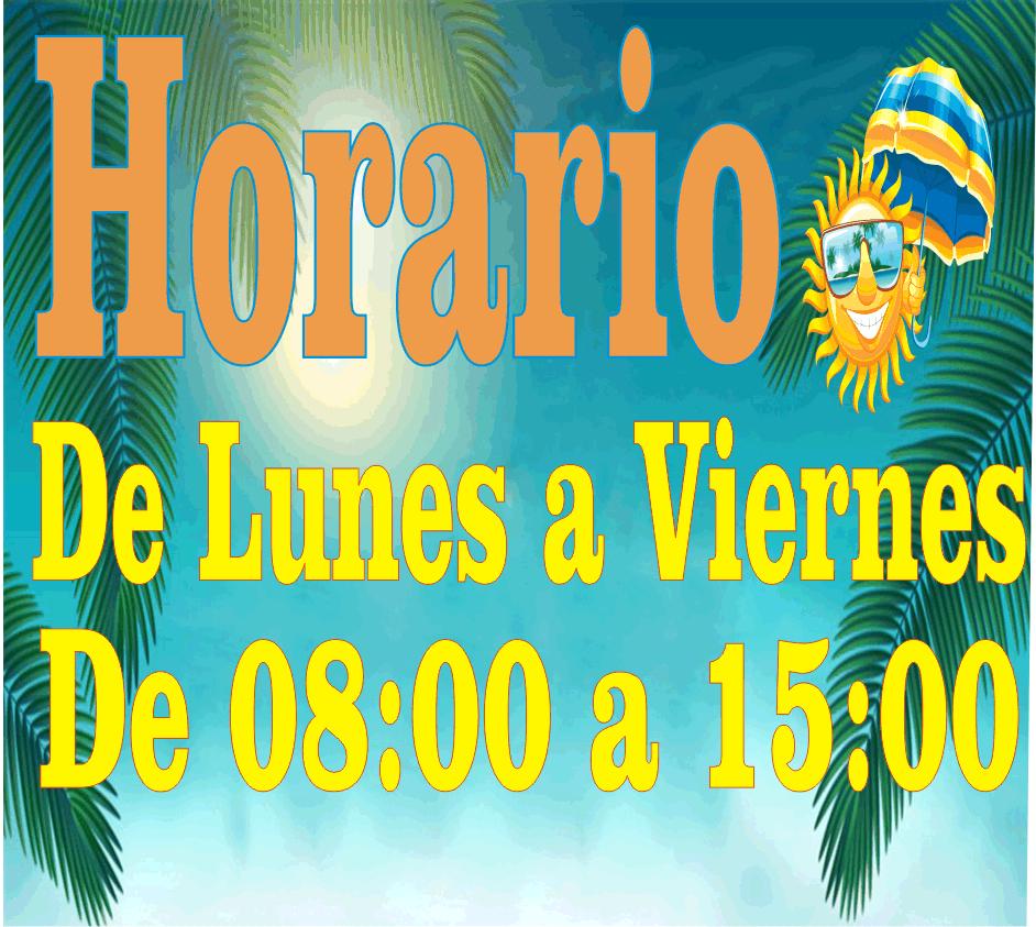 HORARIO ESPECIAL DE VERANO
